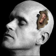 Representacion de una cabeza con cerradura