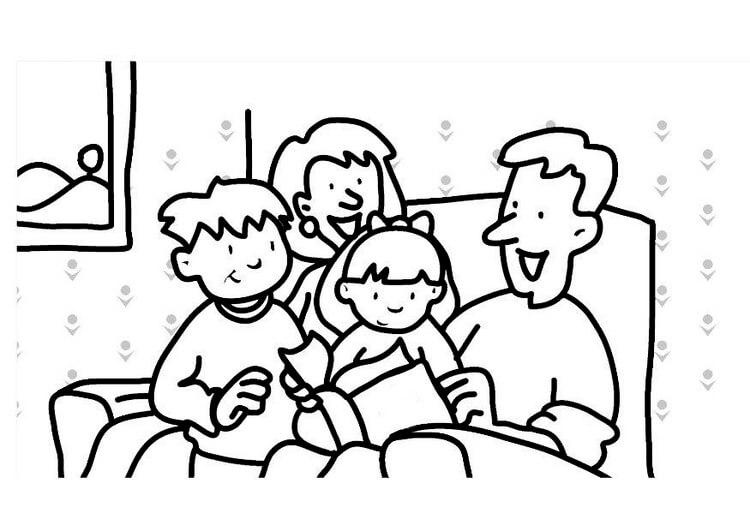 Dibujo de una familia en representación de la importancia del pasado